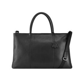 aa7ec8fb440e Image of Manzoni Leather Ladies Folio Bag A399 - Black