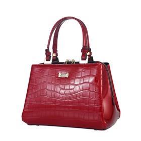 8110c459e70b Image of Serenade Pandora Leather Handbag - Red