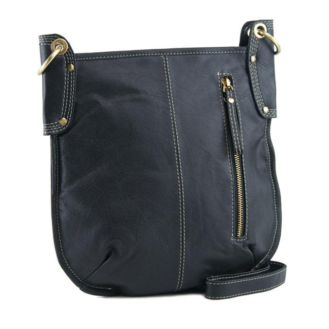 30cd4a9bcdbe Manzoni Leather Sling Bag A132 - Black