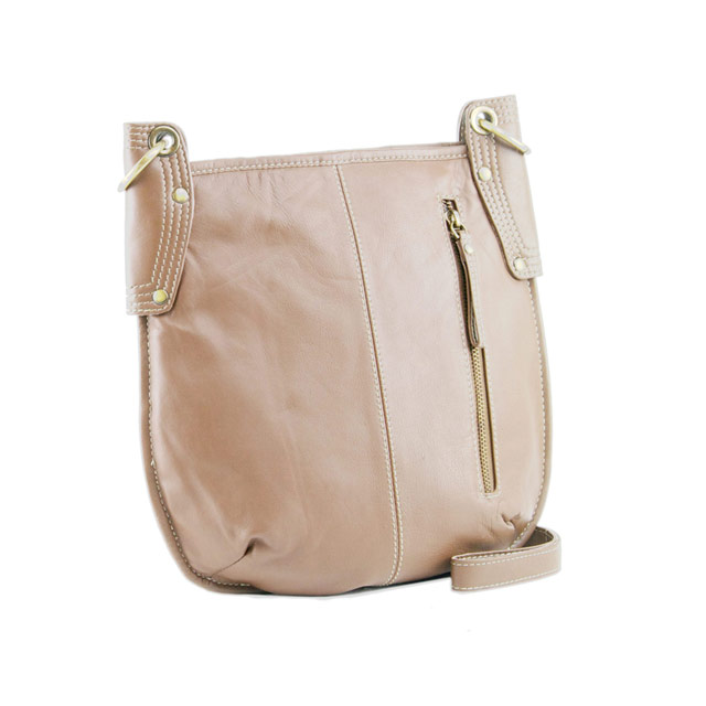 d8bb2d9d0513 Manzoni Leather Sling Bag A132 - Biscuit