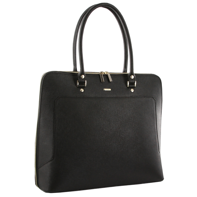 d6a8670209a4a Morrissey Saffiano Italian Leather Ladies Work Bag. Features extra wide  opening top zip