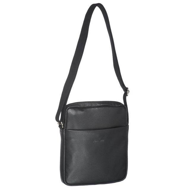 62ac0ae91050 Pierre Cardin Italian Leather Unisex Cross-body Bag. Features an embossed  Pierre Cardin logo